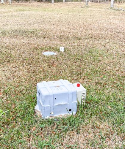 aerobic septic system in yard