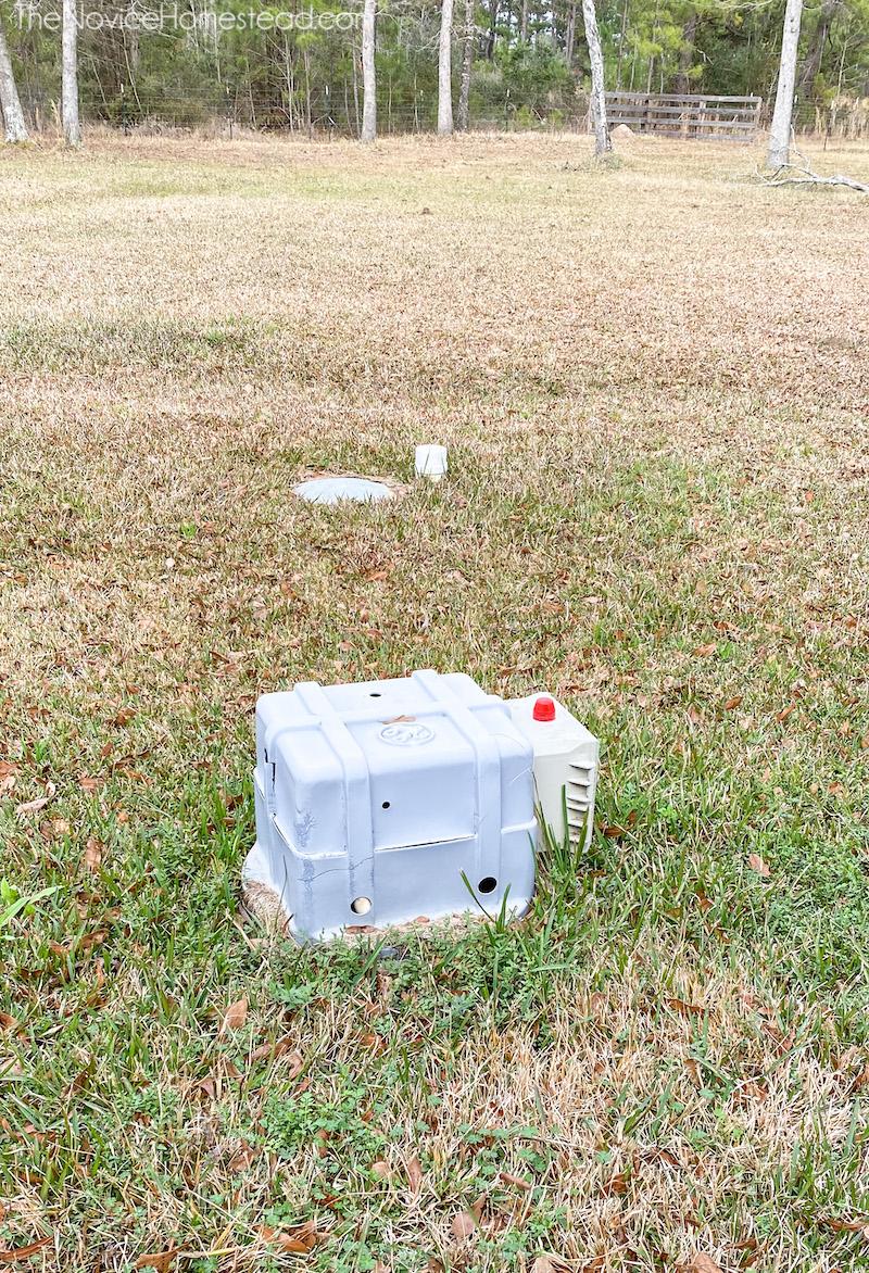 septic tank aerator in ground