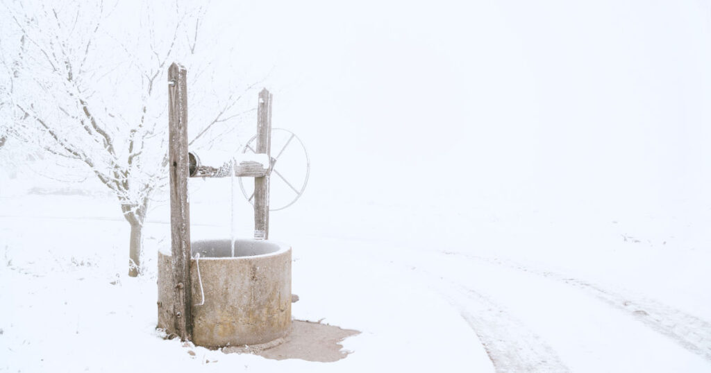 water well in the snow