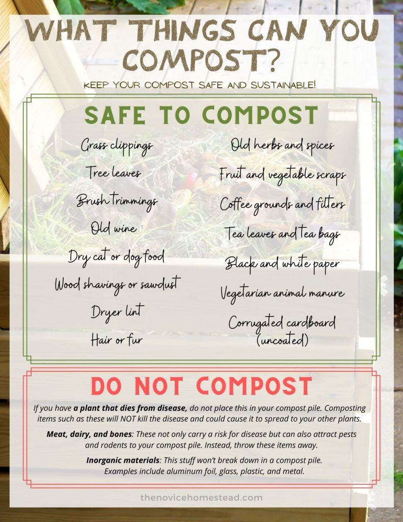 printable list of items you can compost
